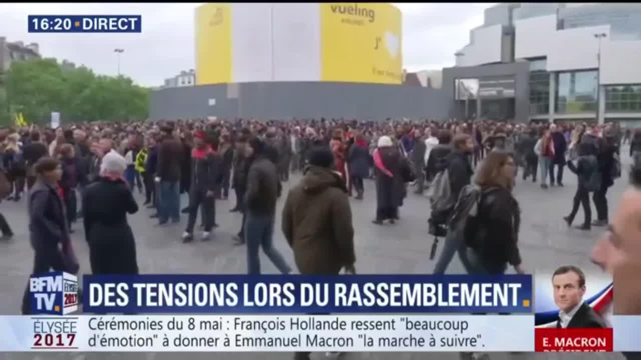 """Résultat de recherche d'images pour """"Front social manifeste au lendemain de l'élection de Macron"""""""